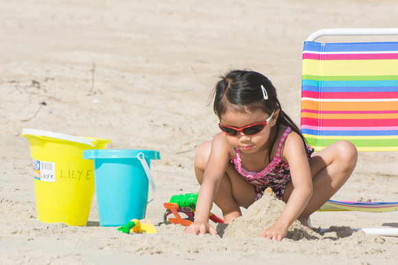 Lily at the Beach -