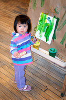 Lily with Her Paint Brush